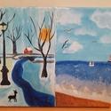 Tél és nyár, Művészet, Festmény, Akril, Festészet, Tél és nyár bemutatása egy képen, az én szemszögemből. Akril, 25x30 cm. 100% pamutvászon., Meska