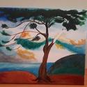 Magányos cédrus újraértelmezve, Művészet, Festmény, Akril, Festészet, Csontváry híres festménye, az én szemszögemből. Akril, 25x30 cm, 100% pamutvászon., Meska