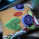 Bagolya kulcstartóra, Vidám színes anyagból készült kis baglyok vá...