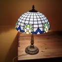 Lámpa akció!  Klasszikus Tiffany lámpa, Otthon, lakberendezés, Lámpa, OIvasólámpa, Hangulatlámpa, Üvegművészet, 30 cm átmérőjű, szabályos félgömb alakú, 282 üvegdarabból, tiffany technikával készült lámpa búra. ..., Meska