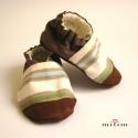 Kék-zöld csíkos fiú cipő - megrendelésre, hkgabó részére készítettem erős vászonból ...