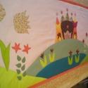 Tündéres falvédő 170x70 cm, Színes és mintás pamutvásznakból készült ez...