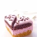 Epres-csokis torta fülbevaló, Ezeket a tortaszeleteket kisüthető gyurmából k...