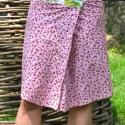 Rózsaszin virágos szoknya, Ruha, divat, cipő, Női ruha, Szoknya, Varrás, Rózsaszin virágos szoknya kétféle, indiai, 100% pamut anyagból. A varrások kívül vannak - rózsaszin..., Meska