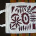 Őszi fantázia - festett textilszatyor, Táska, Szatyor, Készen vásárolt lenvászon szatyrot festettem meg mindkét oldalán hasonló mintával (saját tervezés). ..., Meska