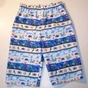 Kalóznadrág, Ruha, divat, cipő, Gyerekruha, Kisgyerek (1-4 év), Nyári hosszú nadrág, könnyű vászonból, helyes, kiskalózos mintával, 80-as méretű kalandoroknak. Dere..., Meska