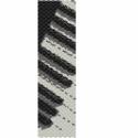 Zongora PEYOTE minta, Négy színből álló, egyszemes peyote minta.  K...