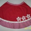 Pöttyös-virágos szoknya, Vidám, pörgős szoknya, szép, piros mintás any...