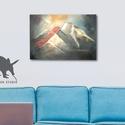 A4 print, saját festményről Hegyek, Ausztria, Dolomitok, HEgység, felhő, Képzőművészet, Dekoráció, Kép, Festmény, Fotó, grafika, rajz, illusztráció, A4-es Minőségi Print,  Nyomtatás saját festményemről   * KERET NÉLKÜL! *  * MÉRET: A4 ( 210 x 297 m..., Meska
