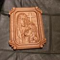 Jézus és Mária dombormű, relief., Otthon, lakberendezés, Falikép, Bükkfából  készül CNC marással , mérete: 200x250, Meska