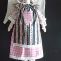 Virágos angyal, Tilda stílushoz hasonló textil angyalka szoknyá...