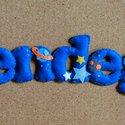 Filc név felirat, Baba-mama-gyerek, Gyerekszoba, Filcből készült felirat, ami egyedi ajándék lehet babalátogatáskor, szülinapra, vagy bármil..., Meska