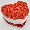 Rózsadoboz - Mélyvörös, Esküvő, Szerelmeseknek, Otthon, lakberendezés, Nászajándék, Festett tárgyak, Virágkötés, Megvan az ajándék és egyedi csomagolásban adnád át? Van egy doboznyi édességed, de a bolti csomagol..., Meska