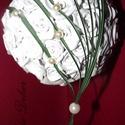 Fehér-Zöld Menyasszonyi/Ékszer csokor, Esküvő, Esküvői csokor, , Meska