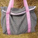 balerina babarózsa és galambszürke nagy váll táska, Egyterű erős de könnyű táska sokat lehet bele...