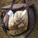 Lovas vízhatlan  Barna egyterű nagy váll táska, Egyterű erős de könnyű táska sokat lehet bele...