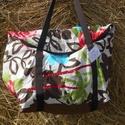 Flamingó virág  egyterű nagy váll táska, Egyterű erős de könnyű táska sokat lehet bele...