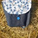 virágos kékség 4 in 1 hátizsák, Táska, Hátizsák, Válltáska, oldaltáska, Saját tervezésű 4 módon hordható táska . Kézben ,vállon,vállon keresztbe és hátizsákként is hordható..., Meska