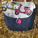 pink robogó 4 in 1 hátizsák, Táska, Hátizsák, Válltáska, oldaltáska, Saját tervezésű 4 módon hordható táska . Kézben ,vállon,vállon keresztbe és hátizsákként is hordható..., Meska