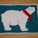 Jegesmedvés takaró, szőnyeg, Baba-mama-gyerek, Gyerekszoba, Falvédő, takaró, Ez egy vidám jegesmedvés horgolt takaró. Az alapanyaga miatt inkább felső takarónak vagy akár..., Meska