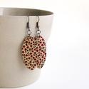 Piros apró virágok textil ékszer - PLUM - Neked való sorozat, Ékszer, óra, Fülbevaló, Tudod, hogyan lehetsz csinos és magabiztos? Úgy, ha a színtípusodnak megfelelő színeket hordod.  Az ..., Meska