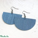 Kék matróz SWING textil fülbevaló - Neked való sorozat, Ékszer, óra, Fülbevaló, Kék-fehér tengerész csíkos, minőségi patchwork anyagból készítettem Neked ezt a fülbevalót.  Ezüst s..., Meska