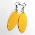 Sárga PLUM textilékszer - Neked való sorozat, Ékszer, óra, Fülbevaló, Egyszínű sárga textilből készítettem ezt a fülbevalót.   Pillekönnyű viselet, szinte alig érzed, hog..., Meska