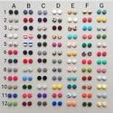 MINI textil fülbevaló csomag, variálható - 3 pár , Állítsd össze kedved szerint saját fülbevaló...