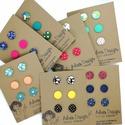 Micro textil fülbevaló csomag variálható - 3 pár , Állítsd össze kedved szerint saját fülbevaló...