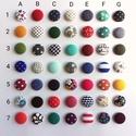 MINI vagy Micro textil fülbevaló csomag, variálható,  Állítsd össze a saját fülbevaló csomagod - 3 pár,  Kiválogattam 2020 legkedveltebb TOP 50(-1) texti...