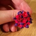 Virágos gyűrű és hullámcsat, Ékszer, Ékszerszett, Gyűrű, Ékszerkészítés, Gyurma, Ez a virágos gyűrű és hullámcsat FIMO gyurmából készült.  A gyűrű állítható az ujjra, a dísz rajta ..., Meska