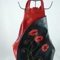 Valódi bőr hátitáska, egyedi, kézzel festett motívummal!, Vera Pelle- kiváló minőségű puha tapintású ...