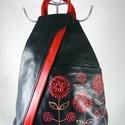 Valódi bőr hátitáska, egyedi, kézzel festett motívummal! , Kiváló minőségű, kellemes tapintású, puha k...
