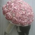 Púder rózsaszín menyasszonyi csokor, Esküvő, Esküvői csokor, Csokor, Mindenmás, AKCIÓ!!! MINDEN MENYASSZONY AJÁNDÉKOT KAP A VÁSÁROLT TERMÉK MELLÉ.10000 FT FELETT INGYEN POSTA :)  ..., Meska