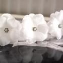 Menyasszonyi  orrganza virág hajtű_swarovskival