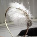 AKCIÓ!!! -20% Tollas vintage menyasszonyi hajpánt, Esküvő, Hajdísz, ruhadísz, Gyöngyfűzés, Varrás, AKCIÓ!!! MINDEN 5000 FELETTI VÁSÁRLÁST KÖVETŐEN ( VÁLASSZ AZ AJÁNDÉK POLCRÓL ÉS TEDD A KOSÁRBA) AJÁ..., Meska