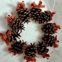 Dupla masnis karácsonyi toboz díszek (10 db)