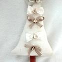 Karácsonyi vintage fenyő dísz/ajtódísz
