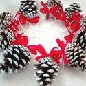 Havas masnis karácsonyi toboz díszek (10 db), Karácsonyi, adventi apróságok, Ajándékkísérő, képeslap, Karácsonyfadísz, Karácsonyi dekoráció, AKCIÓ!!! MINDEN 5000 FELETTI VÁSÁRLÁST KÖVETŐEN ( VÁLASSZ AZ AJÁNDÉK POLCRÓL ÉS TEDD A KO..., Meska