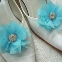 Világos kristályos cipőklipsz, Esküvő, Hajdísz, ruhadísz, Cipő, cipőklipsz, AKCIÓ!!! MINDEN 5000 FELETTI VÁSÁRLÁST KÖVETŐEN ( VÁLASSZ AZ AJÁNDÉK POLCRÓL ÉS TEDD A KO..., Meska