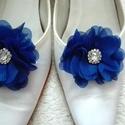 Királykék kristályos cipőklipsz, Esküvő, Hajdísz, ruhadísz, Cipő, cipőklipsz, AKCIÓ!!! MINDEN 5000 FELETTI VÁSÁRLÁST KÖVETŐEN ( VÁLASSZ AZ AJÁNDÉK POLCRÓL ÉS TEDD A KO..., Meska