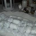 Hófehér,tüllszoknyás szaloncukor csomagban, Igazán elegánsak ezek a hófehér madeira cukork...