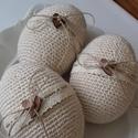 Natúrvilág 5.-Horgolt tojások, A natúr kedvelőinek készült ez a 3 darabos 14 ...