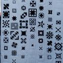 Fehér-fekete takaró, Otthon & Lakás, Lakástextil, Takaró, Patchwork, foltvarrás, Minőségi pamut alapanyagokból készítettem, egyedi darab. Méret:  232 x 144 cm Anyag: kizárólag új 1..., Meska