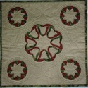 Karácsonyi falikép, Karácsony & Mikulás, Karácsonyi dekoráció, Patchwork, foltvarrás, Karácsonyi  falikép, de használhatod terítőnek is.  Lakásod fénypontja lehet.  Méret: 48 x 48 cm An..., Meska