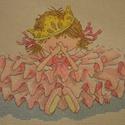 Tündér királylány, 22x16 cm keresztszemes - igazi kislányszobába va...