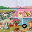 Piknik a szabadban 2, Kb. 40x20 cm keresztszemes hímzés