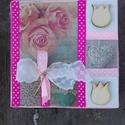 FEHÉR-RÓZSASZÍN virágos kis doboz-KÉSZTERMÉK, Dekoráció, Otthon, lakberendezés, Dísz, Tárolóeszköz, Egyedi dobozkát készítettem. A doboz fehérre festettem, majd dekupázsoltam szalvétával. Került még r..., Meska