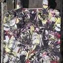 KÉPREGÉNYES vászontáska, táska, Táska, Szatyor, Válltáska, oldaltáska, Nagyon vagány kis vászon táskákat varrtam. Az anyagból 4 db egyforma méretű kis bevásárló táskát sza..., Meska