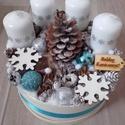 HÓPEHELY karácsonyi box, asztaldísz KÉSZTERMÉK, Dekoráció, Ünnepi dekoráció, Karácsonyi, adventi apróságok, Karácsonyi dekoráció, Virágkötés, Mindenmás, Az igazi tél hófehér. A white koszorúk azoknak készülnek, akik szeretik a hóval borított táj hangul..., Meska